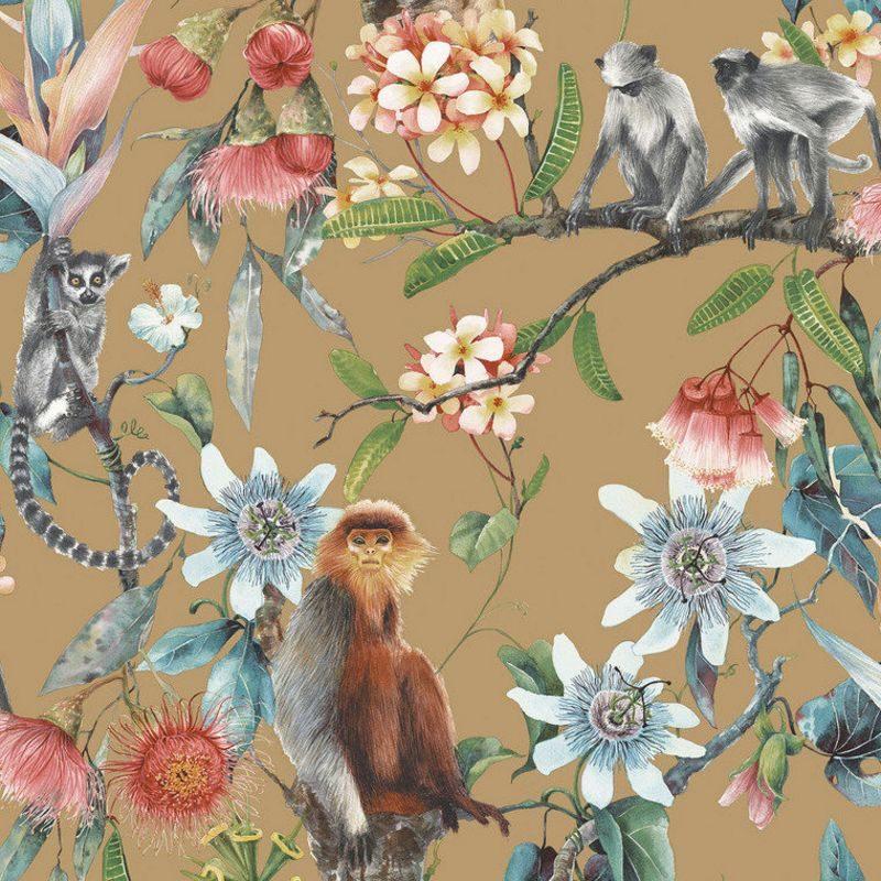 kalotaranis.gr-wallcovering,trees,lemurs,monkeys