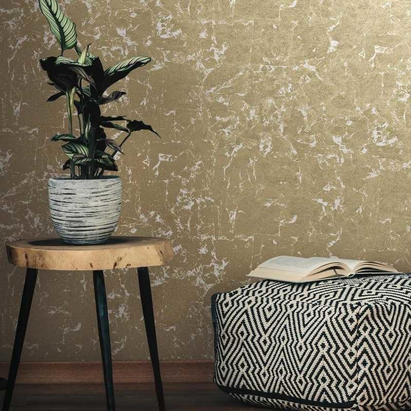 kalotaranis.gr-peel and stick wallpaper,decoration,metallic leaves