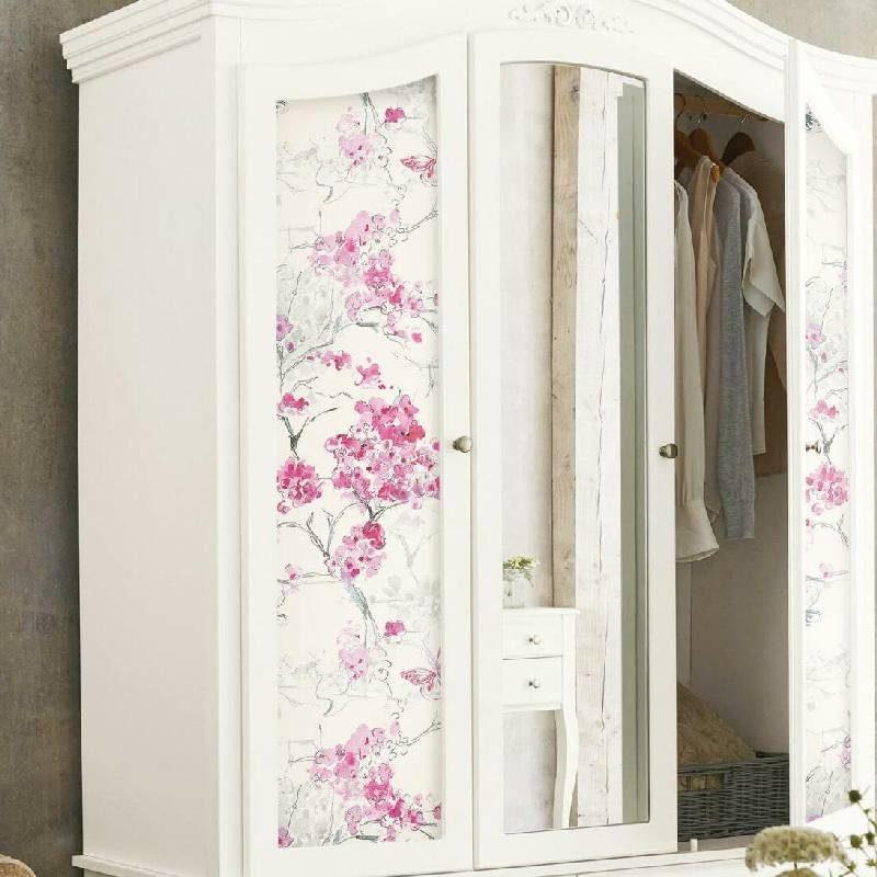 kalotaranis.gr-αυτοκόλλητη ταπετσαρία,διακόσμηση,λουλούδια,άνθη αμυγδαλιάς,πεταλούδες