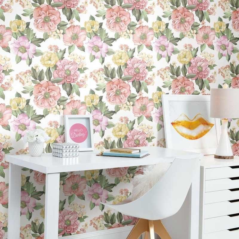 kalotaranis.gr-peel and stick wallpaper,decoration,flowers,watercolor