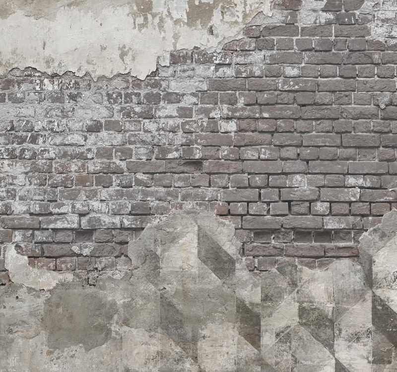 kalotaranis.gr-παράσταση τοίχου,τούβλα,τσιμέντο,γεωμετρικά σχήματα