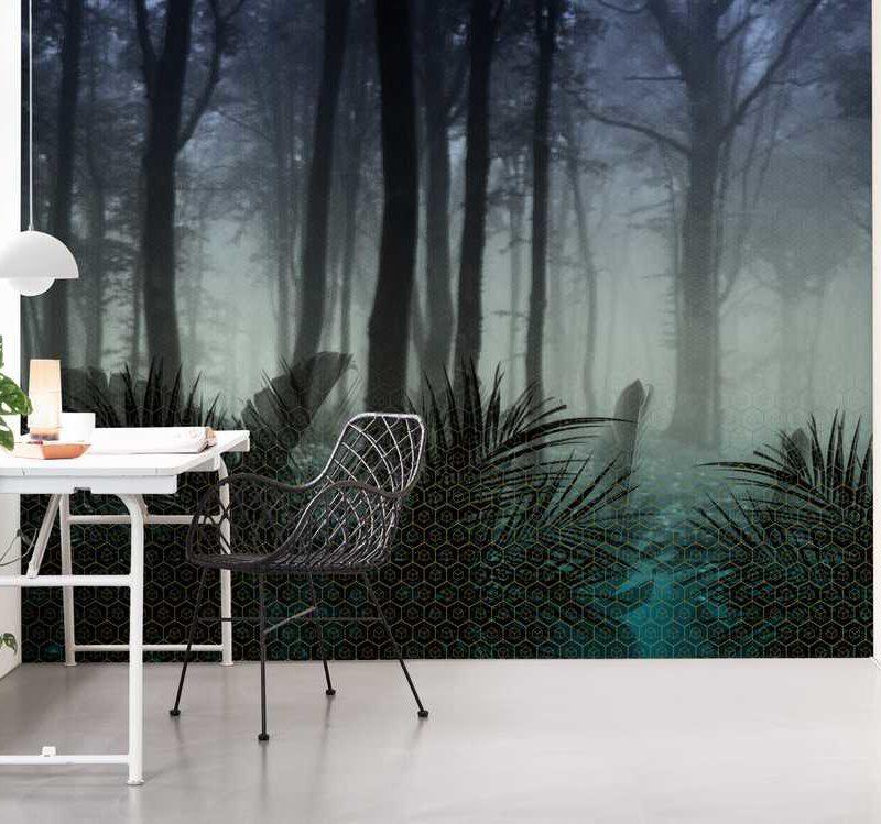 kalotaranis.gr-παράσταση τοίχου,φύση,τοπία,δάσος,γεωμετρικά σχήματα