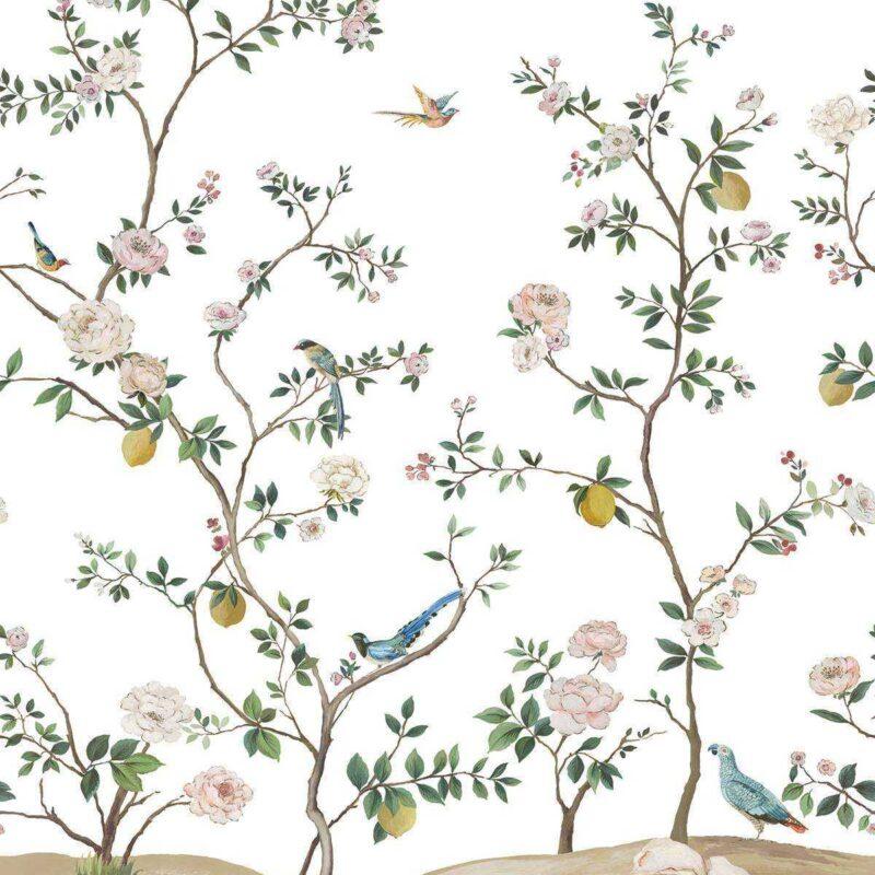 kalotaranis.gr-ταπετσαρία τοίχου,λουλούδια,φύλλα,κλαδιά