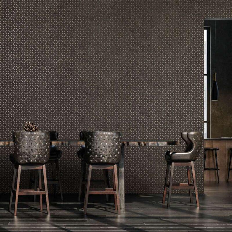 kalotaranis.gr-ταπετσαρία τοίχου,μέταλλο,γεωμετρικά σχήματα